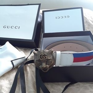 Authentic Gucci tiger buckle